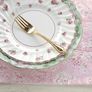 Royal Doulton Rosebud Salad Plate, Tea Party Plate, Cottage Chic, Signed and Numbered, Antique, Vintage Replacement China