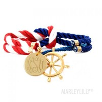 Monogrammed Nautical Rope Bracelet | Marley Lilly