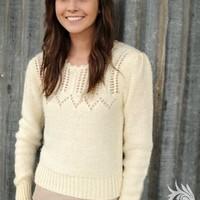 Cream Sweater with button details