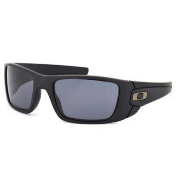 One-nice™ Oakley Fuel Cell Sunglasses Matte Black Frame Polarized Grey Lens OO9096-05