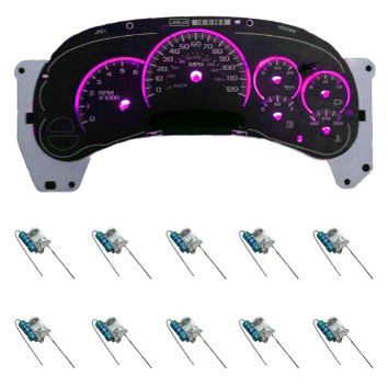 10pc PINK LED Upgrade Light KIT for Instrument Cluster 03 04 05 06 AVALANCHE SILVERADO ESCALADE DENALI HUMMER TAHOE YUKON GMC GM CHEVY PONTIAC BULBS LIGHTING