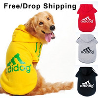 Dog clothes for dogs Large size winter autumn coat Big dogs Hoodie apparel 100% Cotton Provide 3XL- 9XL Free drop shipping D25