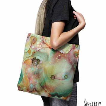 Tote Bag Abstract Art 'Moose'