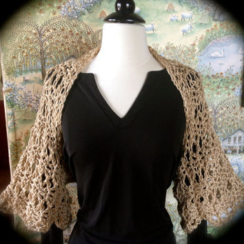 Shrug Bolero Wrap Crochet Pattern Spring Summer or Winter