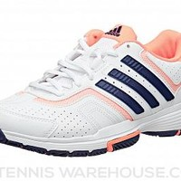 adidas Barricade Court White/Navy/Orange Women's Shoe