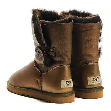 UGG Fashion Leather Half Boots Snow Boots Shoes