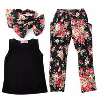 2017 FALL FASHION 3 Pc Toddler and Junior Girls Outfit