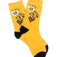 Lazy Daisy Flower Socks