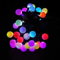 Sewell Direct Linkable Color Changing LED RGB Ball String Christmas Xmas Lights Belt Light