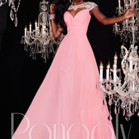 Panoply 14788 Cut Out Neckline Formal Prom Gown