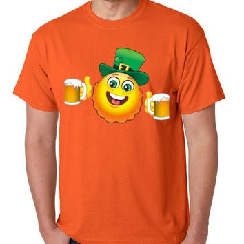 Irish smiling Emoji ST patricks men t-shirt