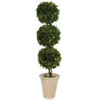 Sage Floral Triple Ball Topiary