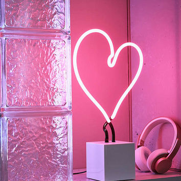 Neon Mfg. Neon Heart Table Lamp | Urban Outfitters