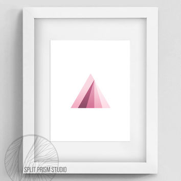 Original Art Print, Instant Download, Print, Art, Digital File, Wall Art, Geometric, Graphic Print, Triangle,Red Triangle Print, Prism