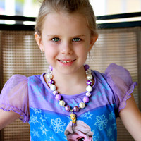 #11 Ice Queen Princess Inspired Bubblegum Chunky Necklace