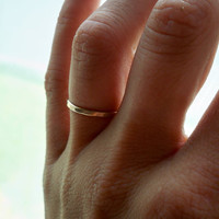 Gold Fil Faceted stacking ring  - custom made