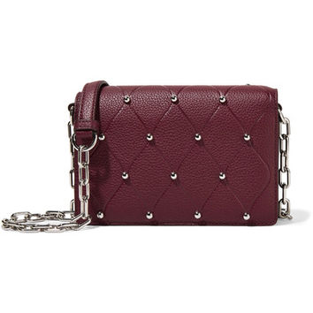 Alexander Wang - Attica Biker studded textured-leather shoulder bag