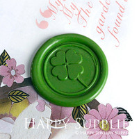 Buy 1 Get 1 Free - 1pcs Clover Gold Plated Wax Seal Stamp (WS291)