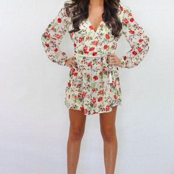 Catch Me If You Can Floral Romper