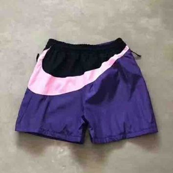 Nike New fashion women and men Behind Big Hook Purple/pink hook shorts Purple