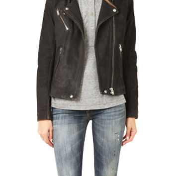 IRO Jay Distressed Leather Jacket