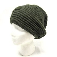 Slouchy and Baggy Urban Style Rasta Beanie, Knit Winter Hat - Unisex | deviazon.com
