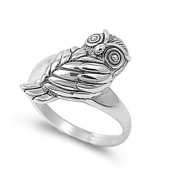 925 Sterling Silver Visionary of the OTher Side Owl Ring