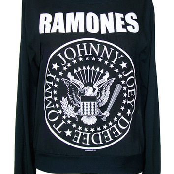 The Ramones Presidential Seal Printed Sweater Jumper