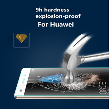 Tempered Glass Screen Protector For Huawei P8 P9 Lite Y3II Y5II Y5 2 Y6II Y6 Pro GR3 GR5 2017 Honor 4C 5C 5X 6X Protective Film