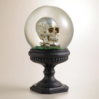 Water Globe with Skull and Bats - World Market