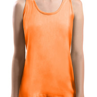 LE3NO Womens Lightweight Loose Fit Racerback Tank Top (CLEARANCE)