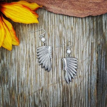 Silver Headdress Earrings