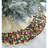 "Confetti Multi Pom Pom 52"" Tree Skirt"
