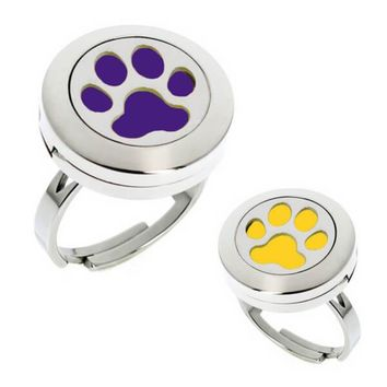 Paw Print Essential Oil Diffuser Ring (perfect for LSU Tigers fans)