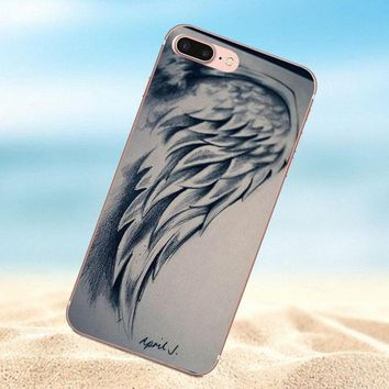 Qdowpz New Supernatural Angel Wing For Huawei G8 Honor 5C 5X 6 6X 7 8 9 Y5II Mate 9 P7 P8 P9 P10 P20 Lite Plus 2017 Painted
