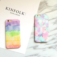 Simple and stylish colorful phone case for iphone 6 6s 6 plus 6s plus + Nice gift box 080902
