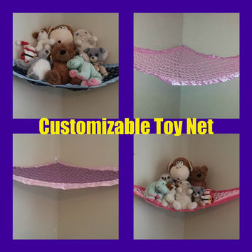 Customized Regular Toy Net, You pick the colors (Black, pink, yellow, navy, blue, light, dark, red, brown, grommet, eyelet, strong)