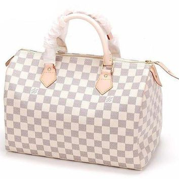 LV Louis Vuitton Trending Women Fashion Print Shopping Leather Tote Handbag Shoulder Bag I-1