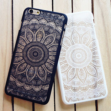 Vintage Lace Floral Case for iPhone 7 7 Plus & iPhone se 5s & iPhone 6 6s Plus Cover +Free Gift Box