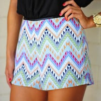 Show And Tell Aztec Shorts: Multi | Hope's