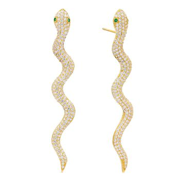 Snake Drop Stud Earring