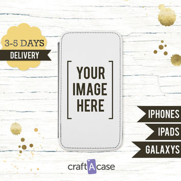 iPhone 6 leather Phone Case Custom Cell Phone Case - iPad Mini Case - Photo Phone Case Samsung Galaxy S6 S5 S4 - iPhone 6 Plus Case