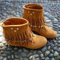short boots tassel boots shoes with flat shoes