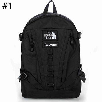 The North Face x Supreme co-branded tide brand color matching men's outdoor sports backpack #1