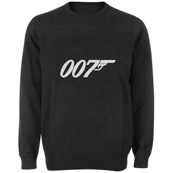 007 sweater Black and White Sweatshirt Crewneck Men or Women for Unisex Size with variant colour