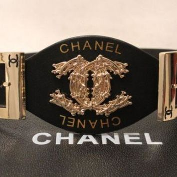 LMFON CHANEL Woman Fashion Smooth Buckle Belt Leather Belt