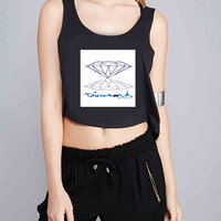 Blue Diamond Supply Co for Crop Tank Girls S, M, L, XL, XXL *07*