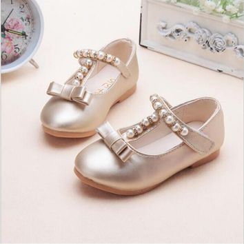 children shoes girls shoes 2016 brand summer autumn beading fashion princess sandals kid designer single sandals shoes for girls