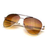 Womens Metal Teardrop Fashion Designer Inspired Aviator Sunglasses