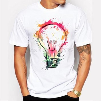 *online exclusive* painted light bulb tshirt